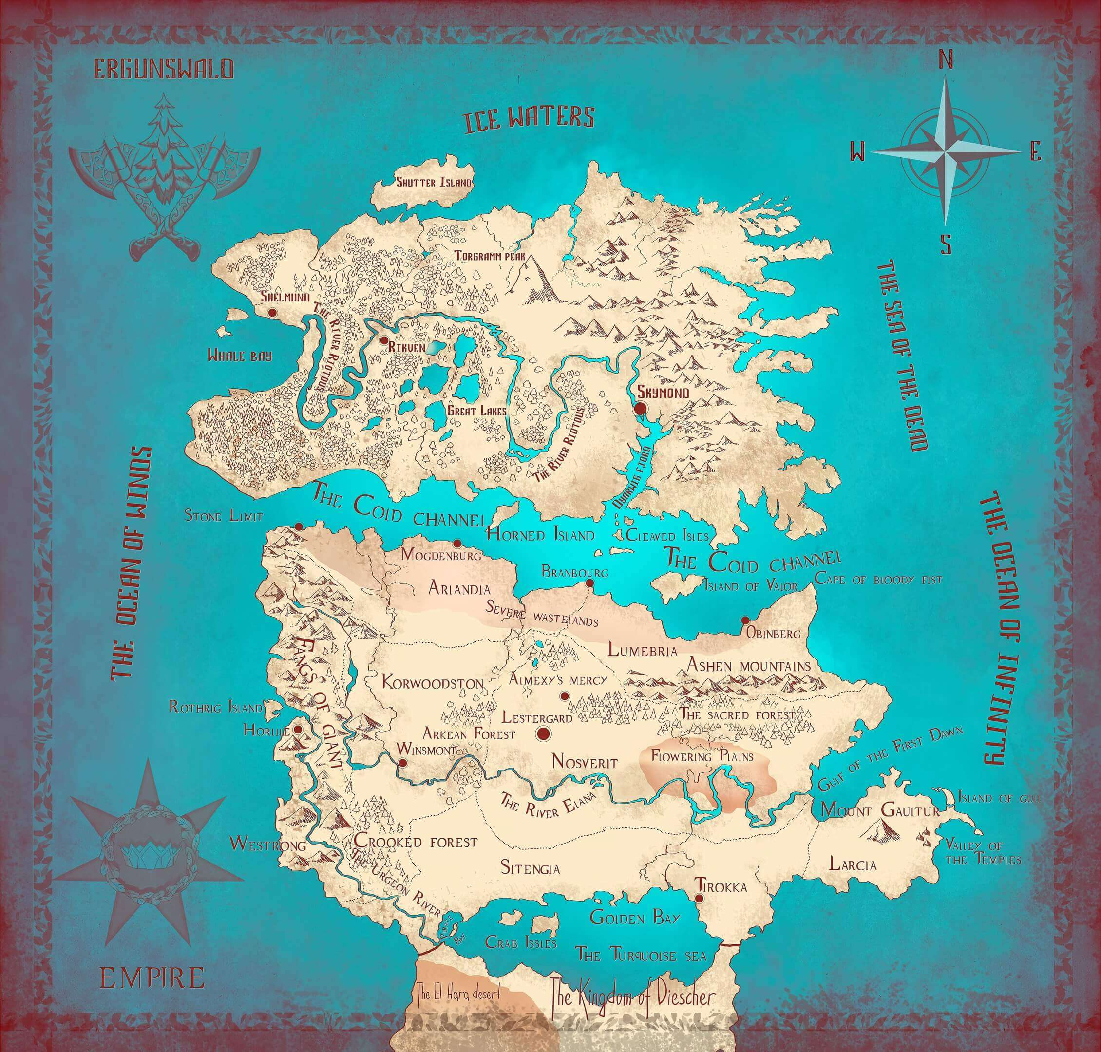 World Map Daniel Foster Official Website Of The Writer - Official world map